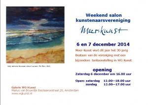 expositie Meer-Kunst bij WG-Kunst december 2014