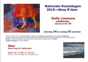 Aankondiging Nationale Kunstdagen 2015