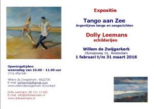 Aankondiging expositie Tango aan Zee